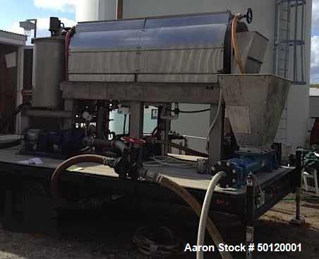 Used- Trailer Mounted Portable Rotary Sludge Thickener (RST) Assembly