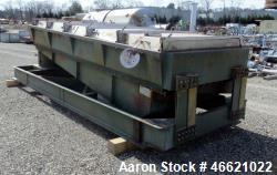 Used- Sprout Waldron Koppers Screener, Model 5 X 12, Carbon Steel. Single deck. Driven by a 5hp, 3/60/230/460 volt motor.