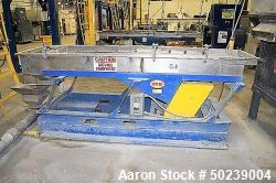 "Used-Witte Rectangular Classifier, Stainless Steel. 24"" Wide x 96"" long screen, 2 deck design for fines & overs. Serial#5220..."