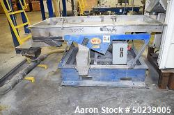 "Used- Witte Rectangular Classifier, Stainless Steel. 35"" Wide x 79"" long screen for fines & overs. Serial#5055-2."