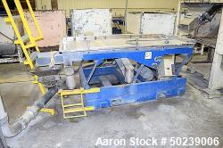 """Used- Witte Rectangular Classifier, Stainless Steel. 35"""" Wide x 79"""" long screen 2 deck for fines & overs. Serial#3709."""