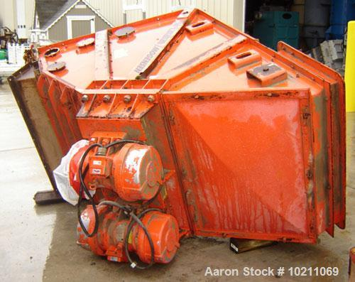 Used-Mogenson Model 1036 one meter design three deck screener sizer.  Manufactured in 1990. Total loaded weight is 4120 lbs....