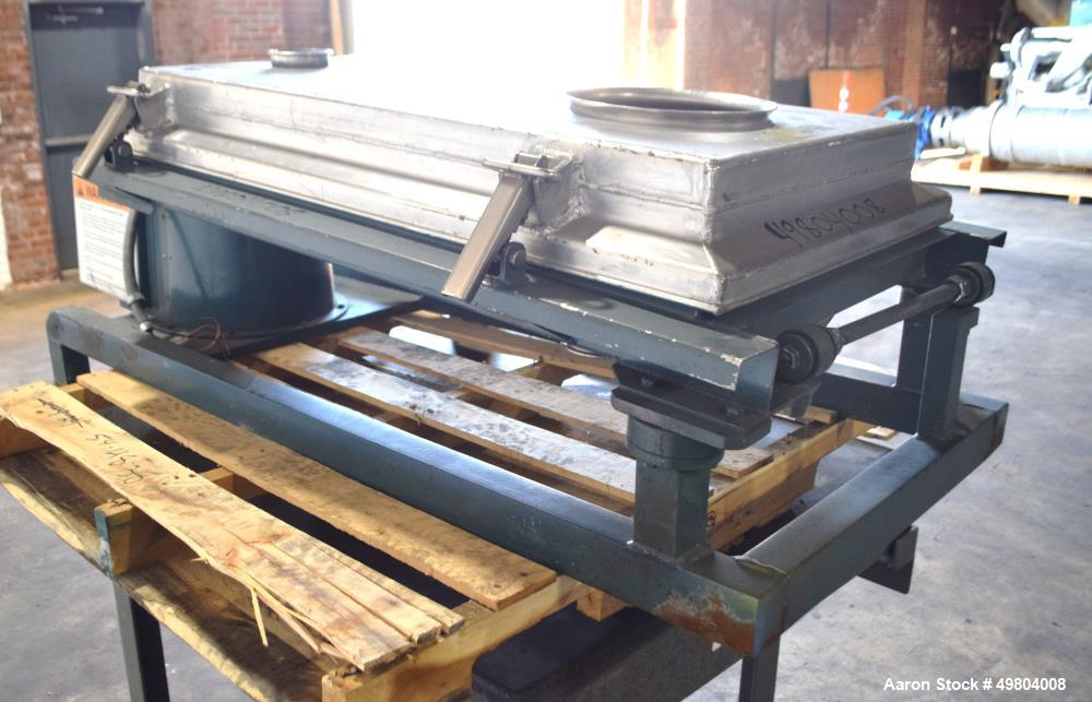 """Used- Rotex Screener, Model 111A AL/SS, Stainless Steel. 21"""" Wide x 36"""" long single deck, 2 separation. Clamp down aluminum ..."""