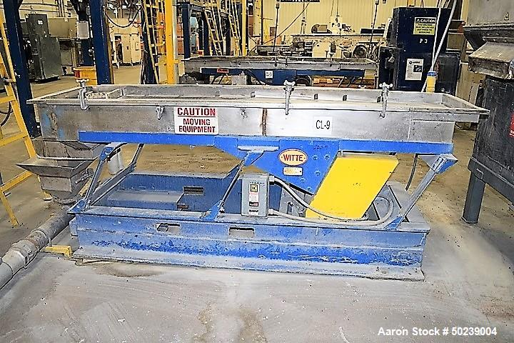 """Used-Witte Rectangular Classifier, Stainless Steel. 24"""" Wide x 96"""" long screen, 2 deck design for fines & overs. Serial#5220..."""