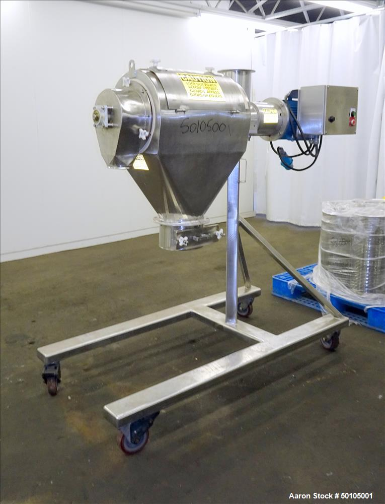 Used-Kason Portable Centri Sifter on Stainless Steel Frame with Casters.  Serial # L-3201.