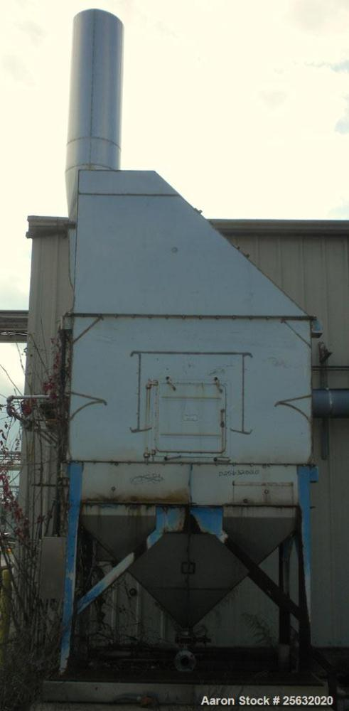 Used- AAF Type W RotoClone Wet Centrifugal Collector/Scrubber, size 8, arrangement D, stainless steel. Capacity 1750 cfm at ...