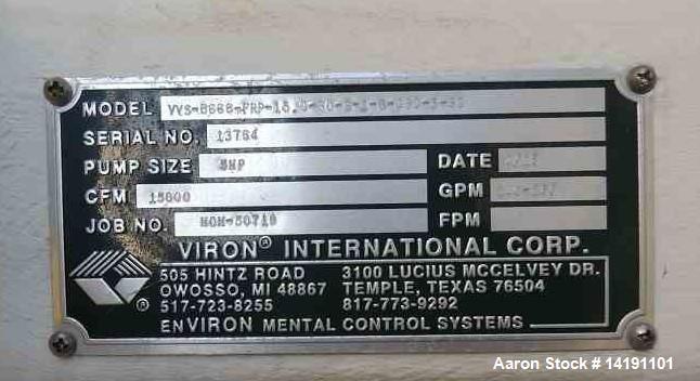 Used- Viron International Scrubber, 15000 CFM
