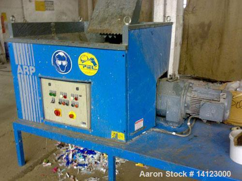 """Used-ARP twin roll shredder, type CS5000. Material of construction is carbon steel on product contact parts. (2) 10.53"""" (270..."""