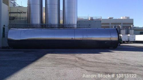Used-Feldmeier 50,000 Gallon Stainless Steel Silo. Includes 3 blade agitator and tank door only, no motor. Tank has minor su...