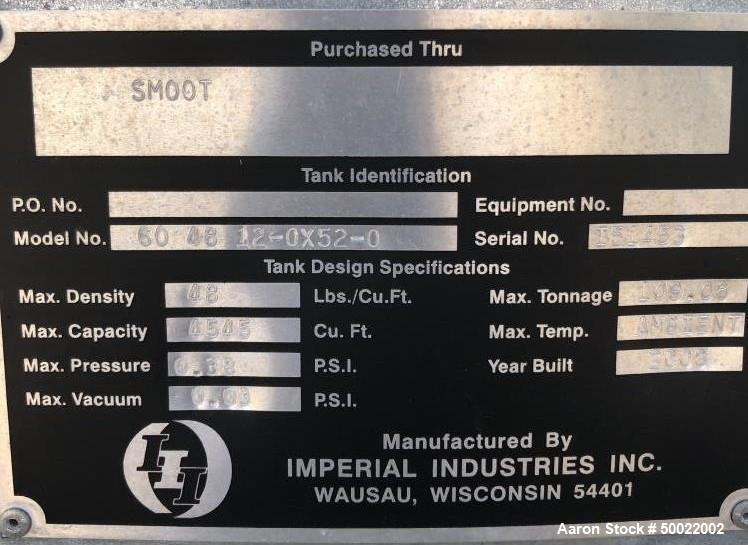 Used- Imperial Industries Silo