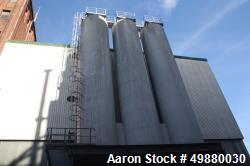 "Used-Zeppelin silo, 90 m2 (90000 liters/23800 gallon) capacity. Aluminum on product contact parts. 3000 mm (9'8"") dia. x 150..."
