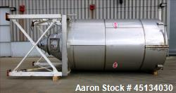 Used- MAC Silo, 3,500 Gallon, 304 Stainless Steel.