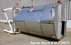 Used- MAC Silo, Approximate 3,500 Gallon, 304 Stainless Steel.