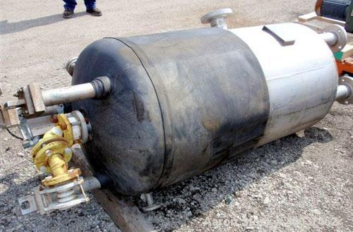 """Used- Acme Industrial Pressure Tank, 130 Gallon, Hastelloy C276, Vertical. 28"""" diameter x 48"""" straight side, dished top and ..."""