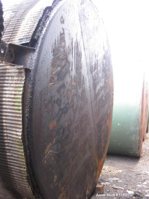 """Used-20,000 Gallon Vertical Tank, carbon steel construction, 11' diameter x 31' high, with 24"""" side manway, 3"""" side bottom d..."""