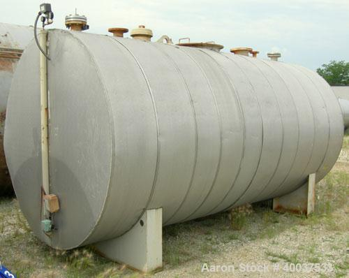 Used- Brown-Minneapolis Tank, 4000 gallon, carbon steel, horizontal. Approximately 7' diameter x 14' straight side, flat end...