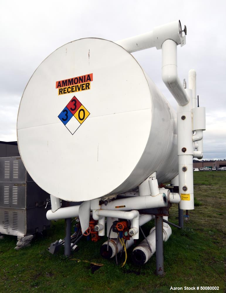 Used- Morfab Company Horizontal Liquid Ammonia Receiver Tank