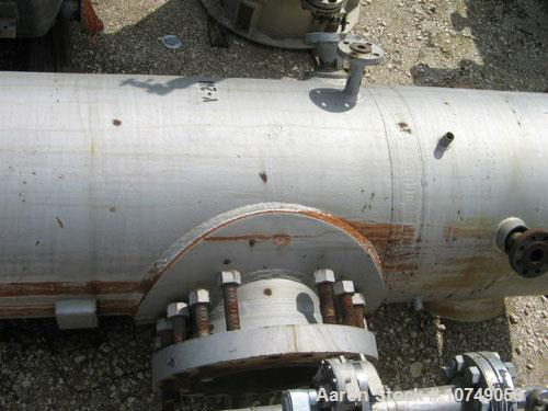 "Used-General Welding Tank, 400 gallons, carbon steel, vertical.  Approximately 32"" diameter x 114"" long, dish top and bottom..."