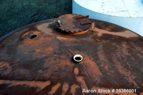 "Used- Highland Tank, 7800 Gallon, Carbon Steel, Vertical. 132"" Diameter x 132"" straight side, coned top, flat bottom. Openin..."