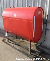 "Used- Murphy & Walsh Aboveground Flammable Storage Tank, Approximate 150 Gallon, Carbon Steel, Horizontal. Approximate 44"" d..."