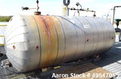 """Used- Tank, Approximate 1500 Gallon, Carbon Steel, Vertical. Approximate 60"""" diameter x 114"""" straight side, dished heads."""