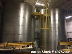 Used- 10,000 Gallon Carbon Steel Tank. 12' diameter x 15' high. Internal water heat coil and insulated.