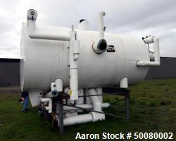 "Used- Morfab Horizontal Liquid Ammonia Receiver Tank, Approximate 1500 Gallon, Carbon Steel. Approximate 54"" diameter x 156""..."