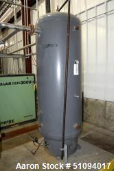 "Used- Manchester Pressure Receiving Tank, 240 Gallons, Carbon Steel, Vertical. Approximate 30"" diameter x 67"" straight side,..."