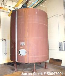 Used- Brothers Inc Tank, Approximate 6,000 Gallon, Vertical, Carbon Steel.