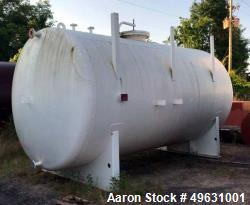 Unused- Modern Welding Company Tank, 7,000 Gallon. 9 OD x 18 long Tangent to Tangent. Carbon steel shell with plastic intern...