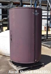 "Used- True North Steel Tank, Approximate 500 Gallon, Carbon Steel, Vertical. Approximate 48"" diameter x 72"" straight side."
