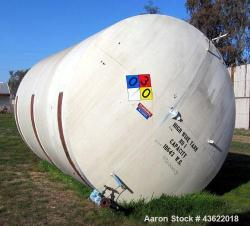 Used - 10,000 Gallon Horizontal Carbon Steel Storage Tank.