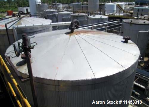 """Used- 14,500 Gallon O'Conner Storage Tank. Carbon steel construction, 11'6"""" diameter x 18' straight side, dish top and botto..."""