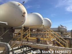 "Used- AMF Beaird Inc. 90,500 Gallon Carbon Steel Horizontal Pressure Vessel. Rated 250 psi at 100F. Dimensions 10'-10""OD x 1..."