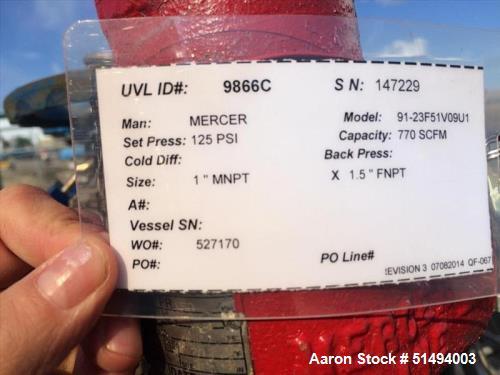 Used- Taylor-Wharton Horizontal Nitrogen Vessel, 60,000 USWG