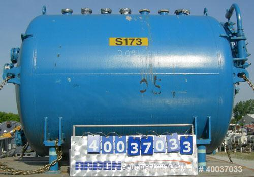 "Used- DeDietrich Glass Lined Reciever Tank, 1000 gallon, 3008 blue glass, horizontal. Approximately 60"" diameter x 72"" strai..."