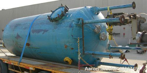 """Used- Glascote glass lined tank, 3000 gallon, vertical. Approximately 72"""" diameter x 162"""" straight side. Dished top and bott..."""