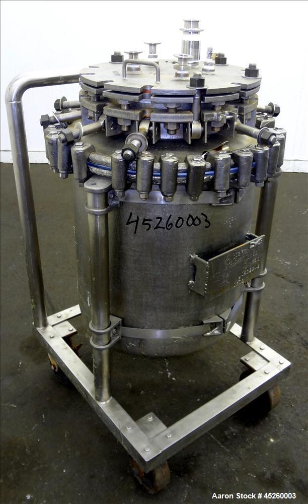 Used- Glascote Glass Lined Pressure Tank, 110 Lit