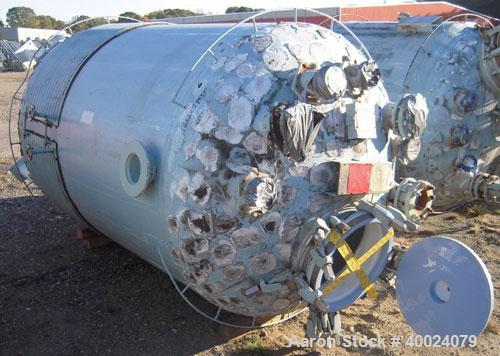 Used- 1000 gallon Pfaudler Glass Lined Reciever, Model VC60-1000