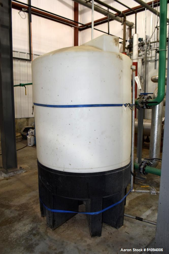Used- Norwesco Polypropylene Tank, Approximate 500 Gallons