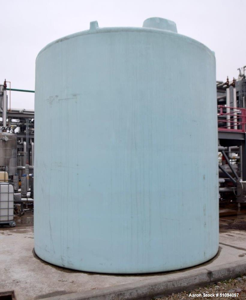 Used- Polypropylene Tank, Approximate 9,000 Gallon, Vertical