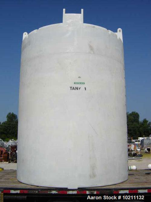 "Used-IMG Tank, 3000 Gallon, Plastic, Vertical.Approximately 89"" diameter x 120"" straight side, slight dish top and flat bott..."