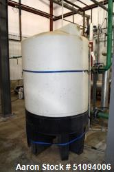 "Used- Norwesco Polypropylene Tank, Approximate 500 Gallons, Vertical. Approximate 48"" diameter x 48"" straight side, dished t..."