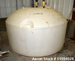 "Used- Polypropylene Tank, Approximate 800 Gallon, Vertical. Approximate 96"" diameter x 36"" straight side, dished top, flat b..."