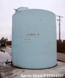 "Used- Polypropylene Tank, Approximate 9,000 Gallon, Vertical. Approximate 132"" diameter x 140"" straight side, dished top, fl..."