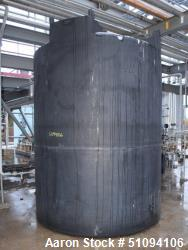 "Used- SII Snyder Polypropylene Tank, 3000 Gallon, Vertical. Approximate 90"" diameter x 108"" straight side, dished top, flat ..."