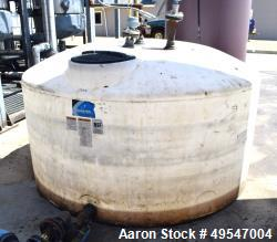 """Used- Ace Roto-Mold Poly Tank, Approximate 900 Gallon. Approximate 96"""" diameter x 40"""" straight side, dished top, flat bottom."""