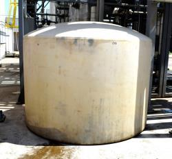 """Used- Ace Roto-Mold Poly Tank, Approximate 1300 Gallon. Approximate 96"""" diameter x 58"""" straight side, dished top, flat botto..."""