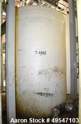 """Used- Ace Roto-Mold Poly Tank, Approximate 4000 Gallon. Approximate 96"""" diameter x 132 straight side, dished top, flat botto..."""