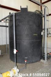 "Used- SII Snyder Polypropylene Tank, 3000 Gallon, Model ASM TK 3000VDT X 90, Vertical. Approximate 90"" diameter x 108"" strai..."